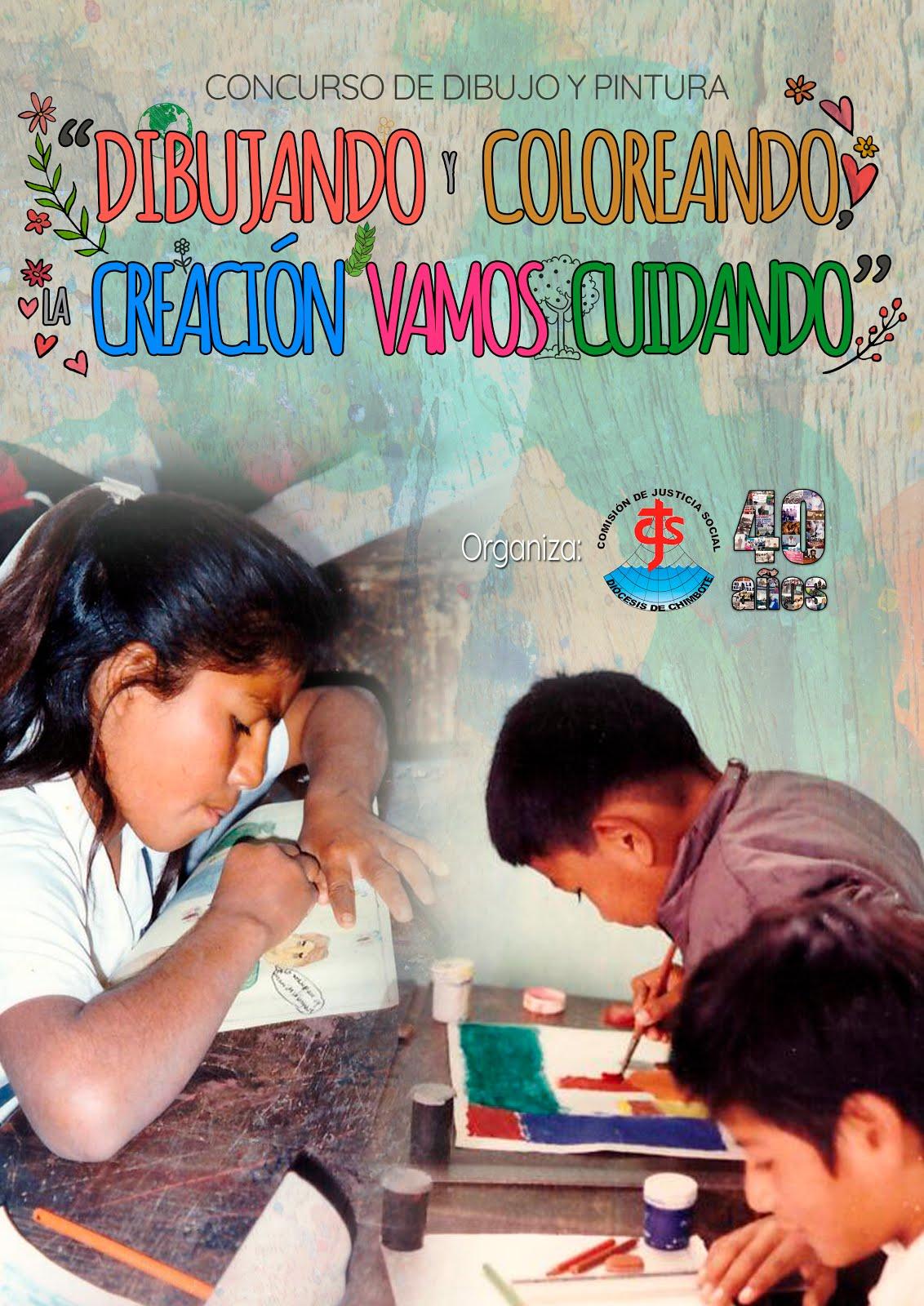 """Concurso de dibujo y pintura """"DIBUJANDO Y COLOREANDO, LA CREACIÓN VAMOS CUIDANDO"""""""