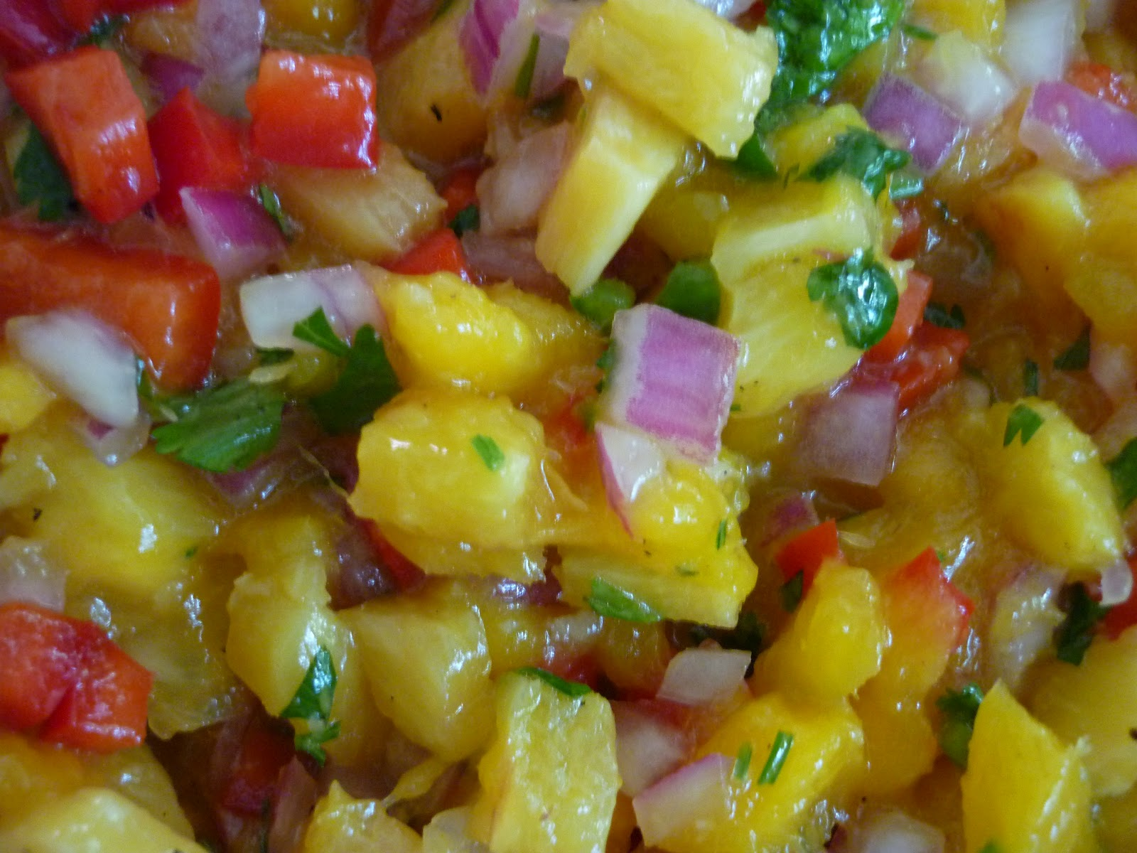 The Nerdy Chef: Pineapple Mango Salsa