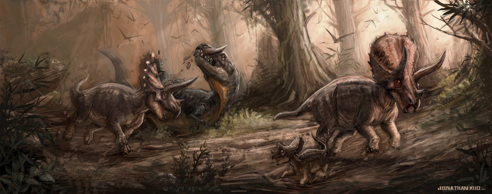 Thursday  November 3  2011T Rex Vs Triceratops Fighting