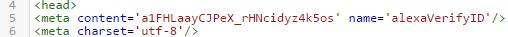 kode verifikasi id yang harus dicopy di template