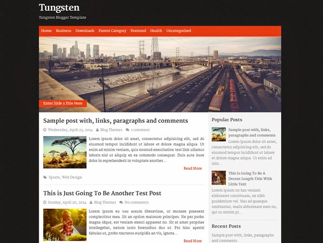 Tungsten Magazine Blogger Template