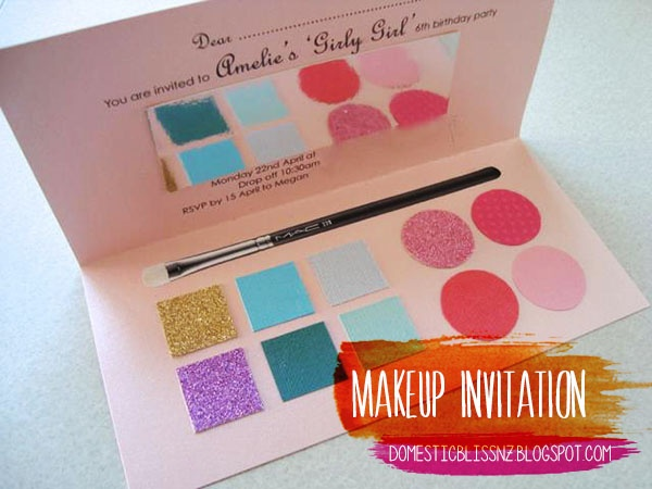 makeup invite