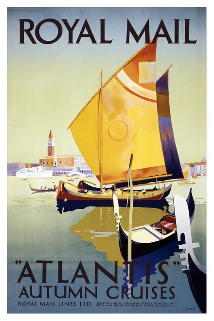 royal mail lines atlantis autumn cruises vintage travel
