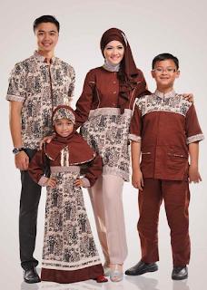 Gambar Baju Muslim Batik Sarimbit untuk Lebaran