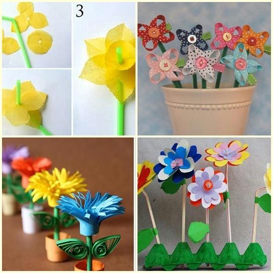 Kolorowe Laurki Wiosenne Kwiaty Plastyka W Przedszkolu