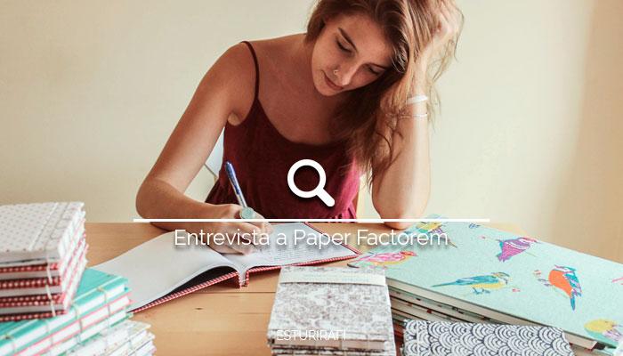 cuadernos ecológicos hechos a mano chica escribiendo