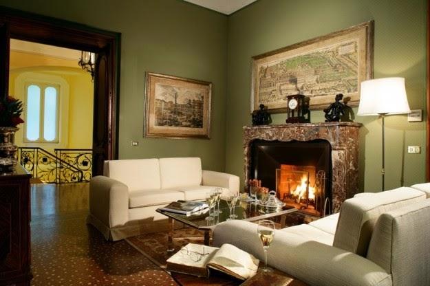 10 salas con chimenea colores en casa for Sala con camino