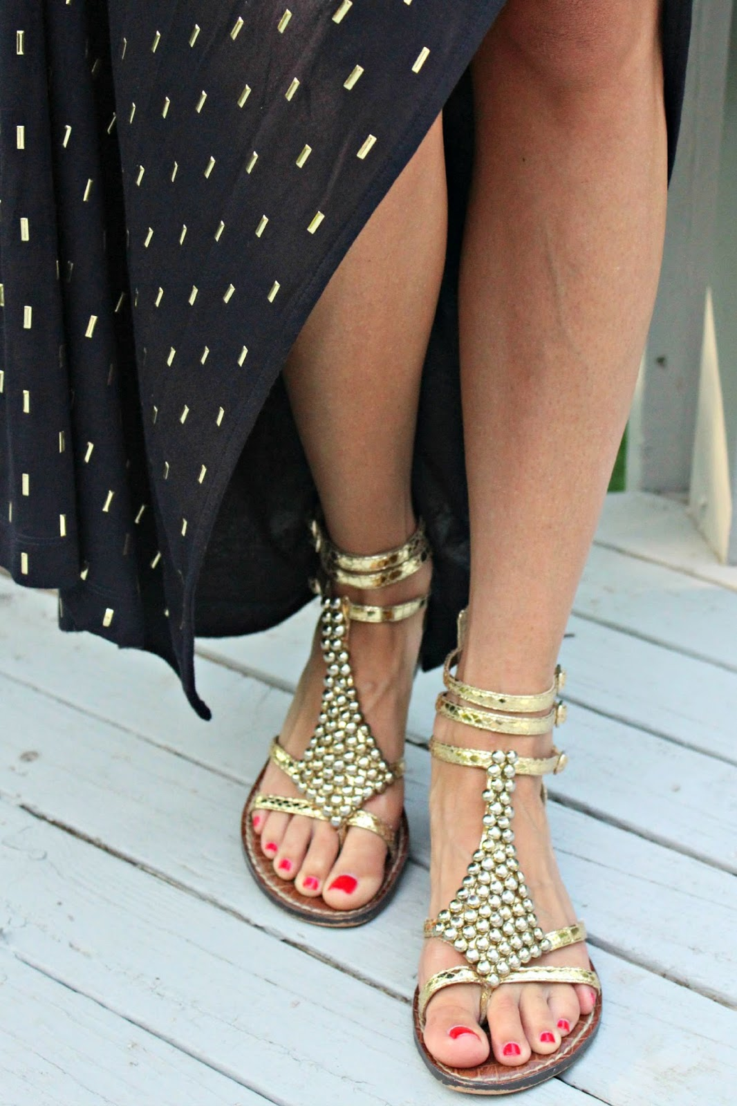 gold sam edelman sandals