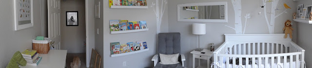 Sweet Gray Baby Boy Nursery