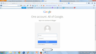 cara membuat email di gmail, cara membuat email dan blog gratis dan cepat, cara membuat blog, 0856.4640.4349