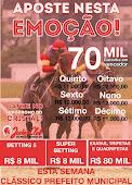 Hipódromo do Cristal - 23/10 - APOSTE NESTA EMOÇÃO # Garantia de Vencedor R$70.000