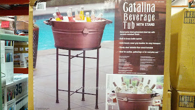 Catalina Beverage Tub – 10-gallon capacity, built-in bottle opener, solid acacia wood handles