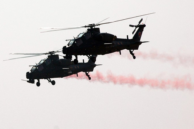 Aerobatic Display by Chinese Z-10 Attack Helicopter ...