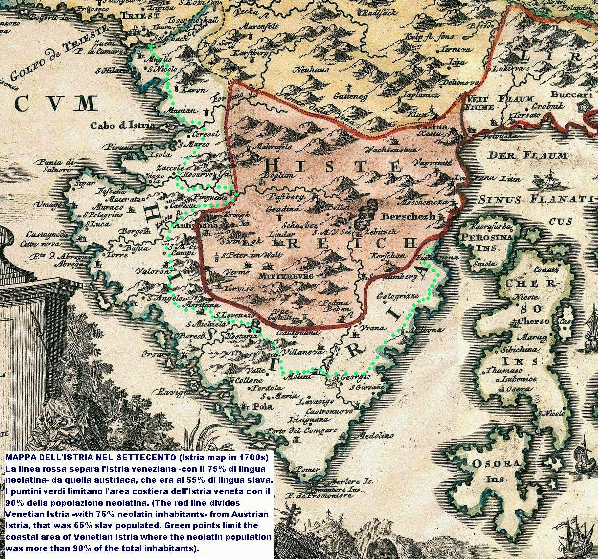 mappa istria veneta ed austriaca