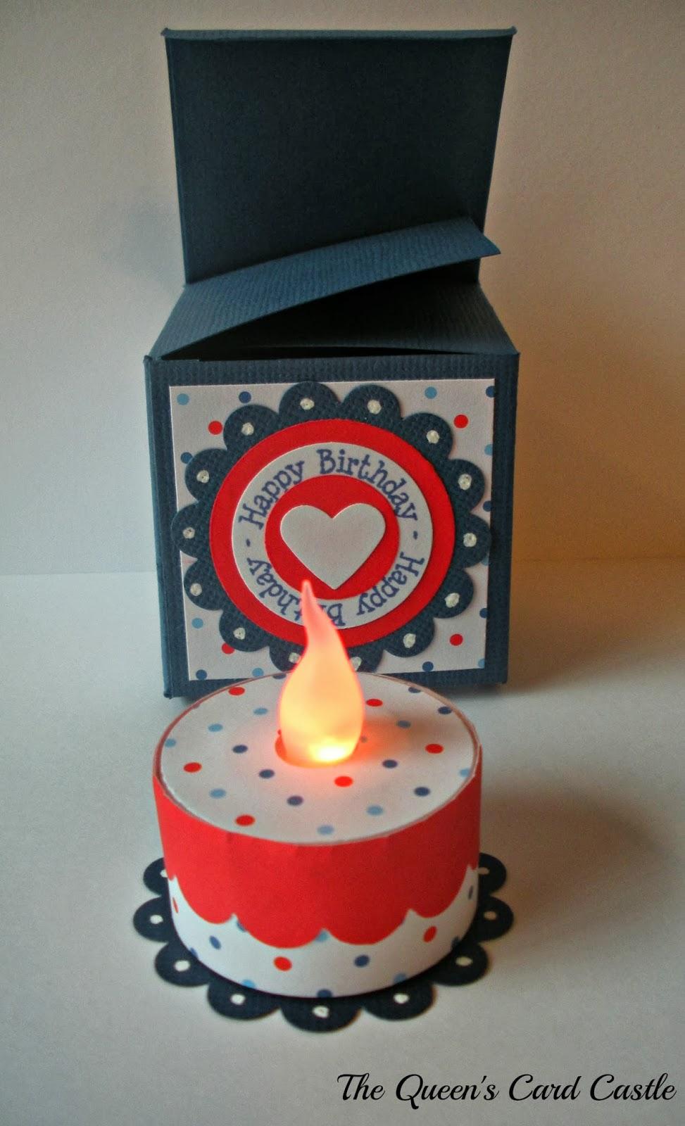 The Queen's Card Castle: Mini Birthday Cake