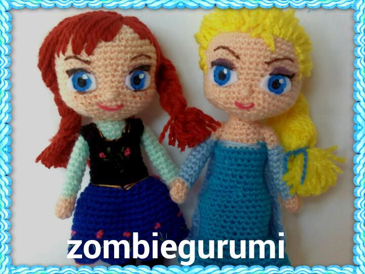 Amigurumis: Anna y Elsa de Frozen.. amigurumi