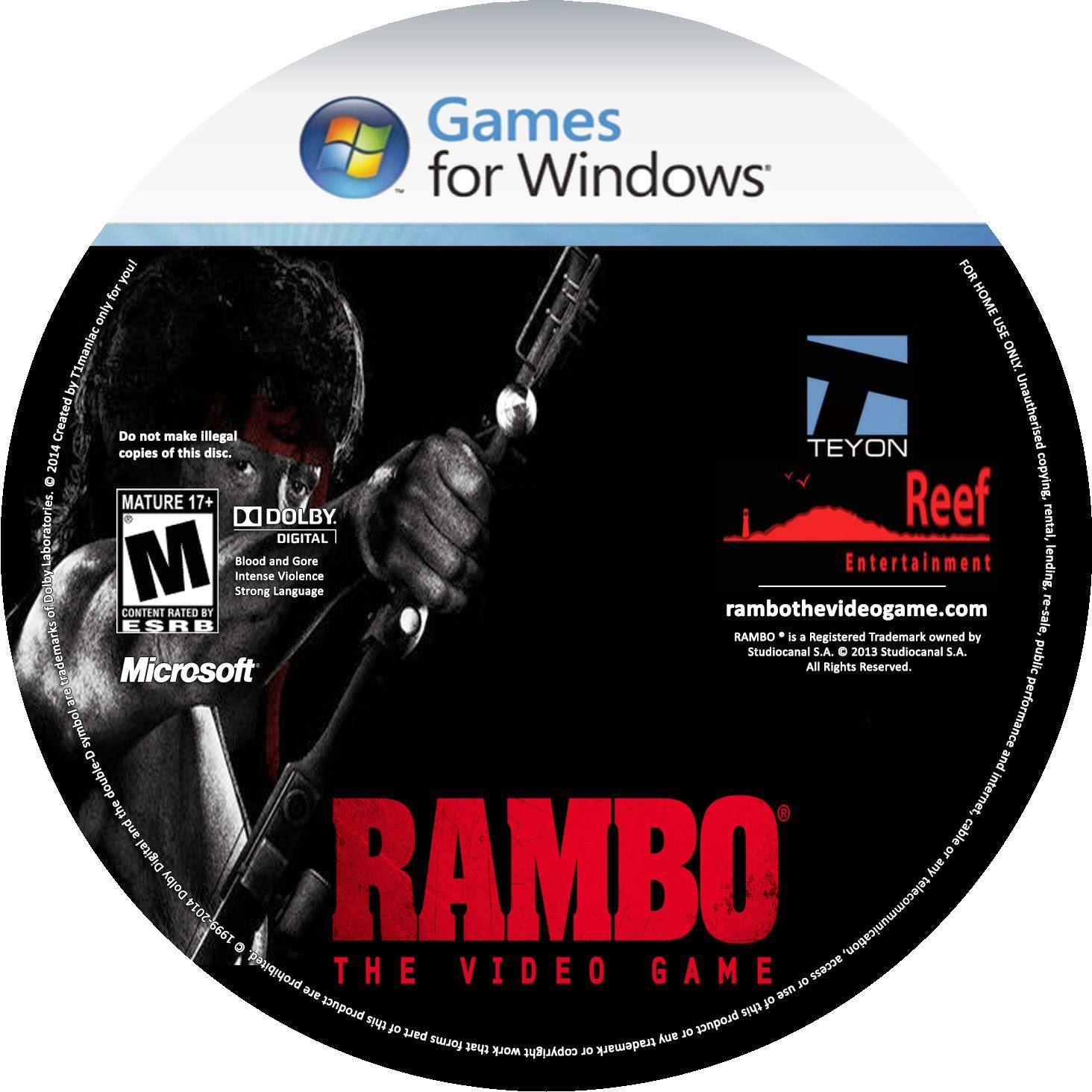 Label Rambo The Video Game PC