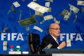SEPP BLATTER, BLASTED WITH CASH.