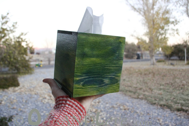 kid's crafts tissue box cover