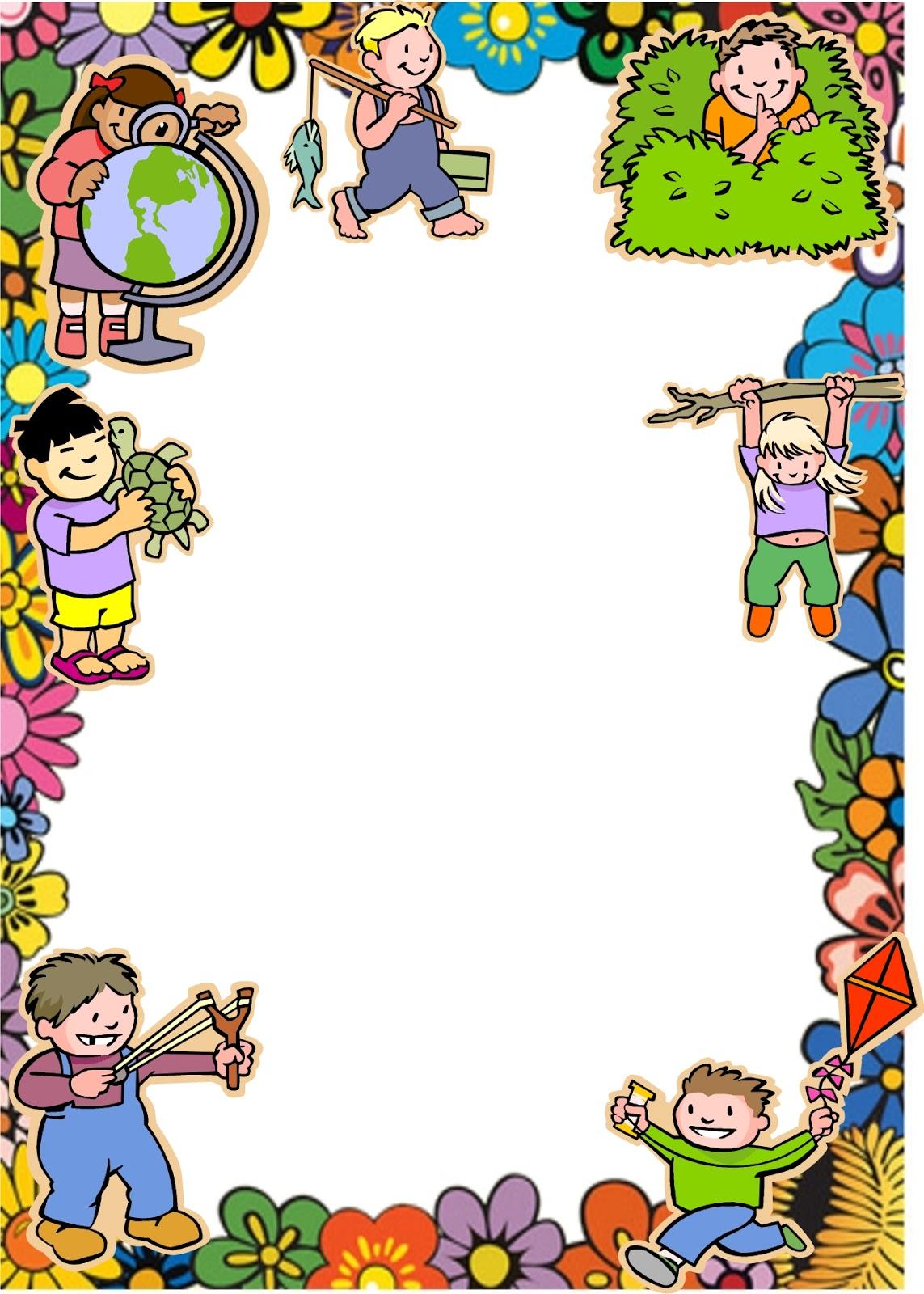 Marcos de niños para caratulas - Imagui