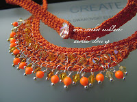 Swarovski Neon - Wire Crochet Necklace