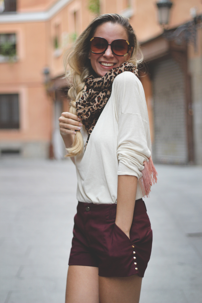 teenvogue, MY SHOWROOM, street style, blog de moda, fashion blog, look, outfit, horseshoes, leopard print, burgundy, autumn trends, Autumn 2012, casual look, mentirosas, buylevard, PullBear, sarenza, Anniel,