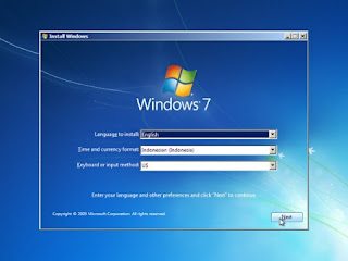 cara install windows 7 komputer