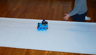 toddlers and preschoolers will enjoy this fun train racetrack made at home