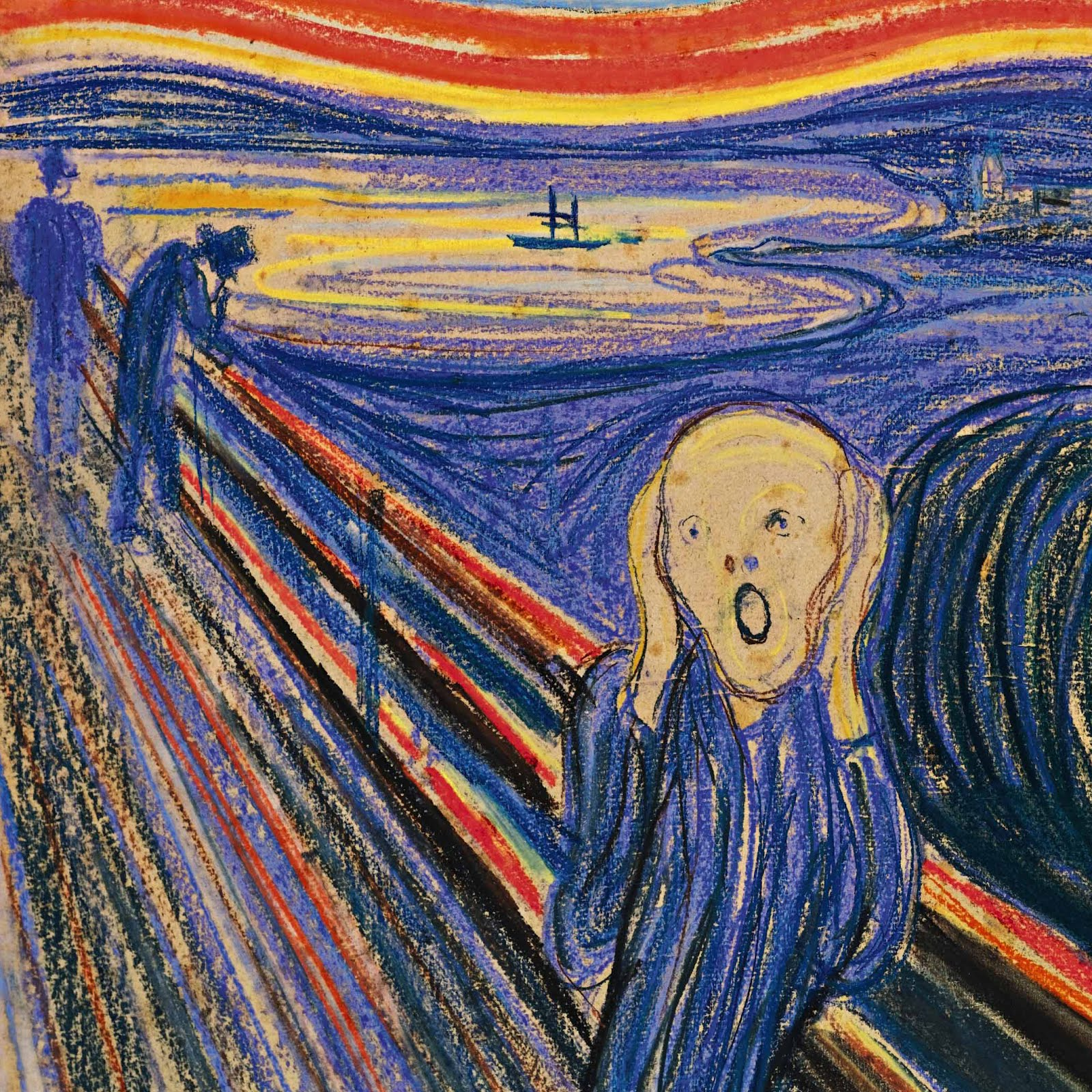 edvard munch the scream The scream by edvard munch looking like a scene out of a nightmare, edvard munch's painting the scream is one of the world's most recognizable expressionist.