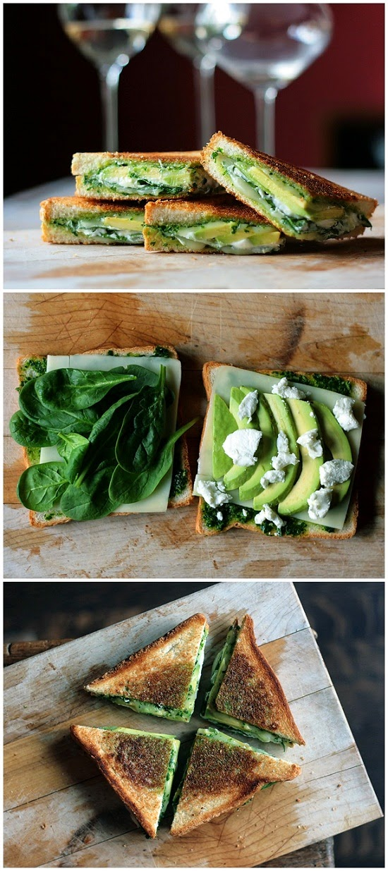 Green Goddess Grilled Cheese Sandwich
