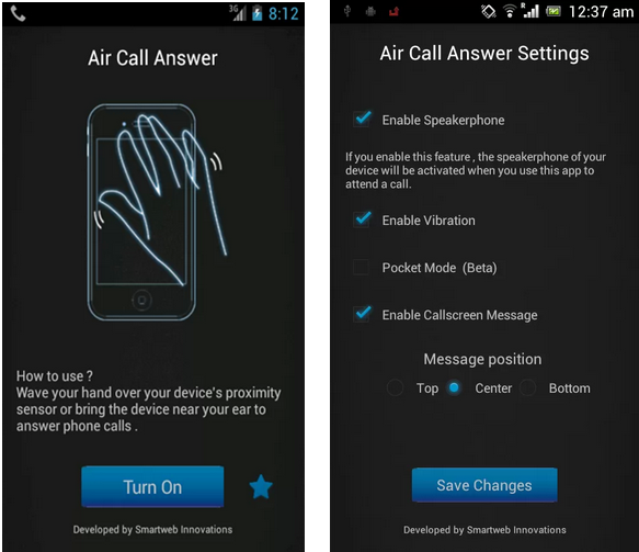 How to install Air Gesture on Android Device