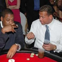 Alex Rodriguez playing poker