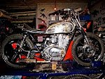 Project 5, 77 Yamaha xs500. Under konstruktion. Sold