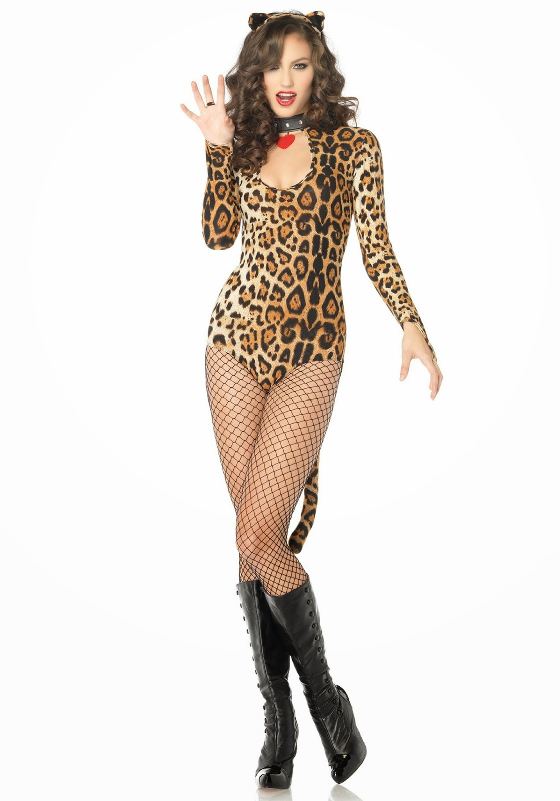 imgchili cat 1.)Get in touch with your wild side in this great animal print one piece. Add a pair of jungle cat ears and a tail and your costume is complete.