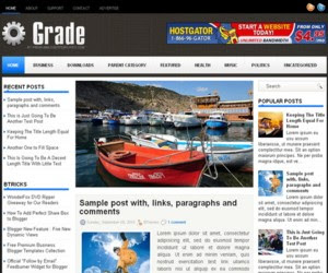 Grade Prosense Blogger Template