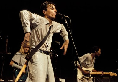 David Byrne playing with Talking Heads in Stop Making Sense