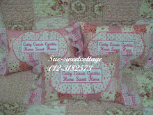 throw pillow dgn wording bersulam, RM35/pc