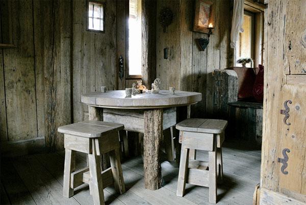 mesa de cocina rustica
