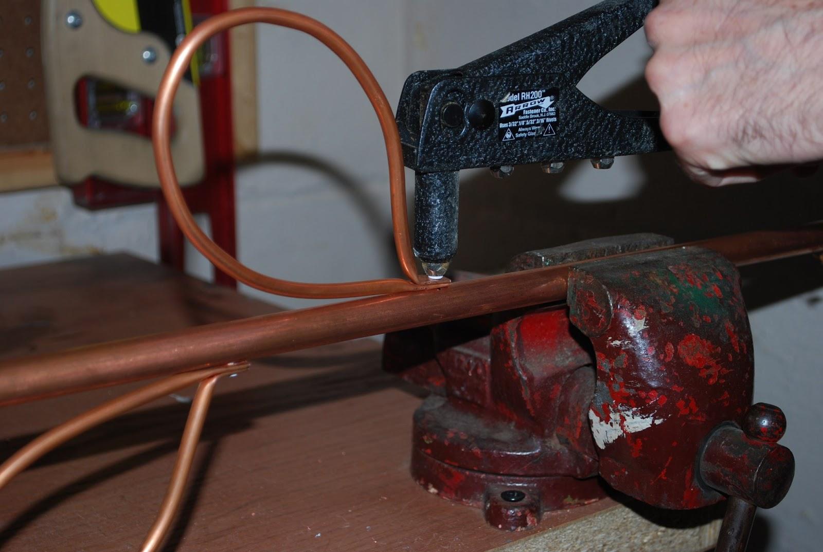 Copper Tubing Art kelly's studio time: art in the garden - glass flower