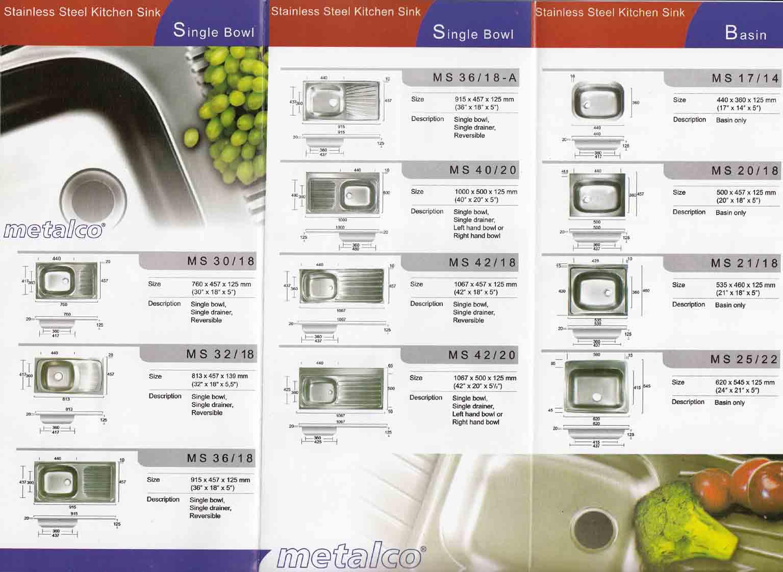 Daftar Harga Kitchen Zink Metalco Media Bangunan