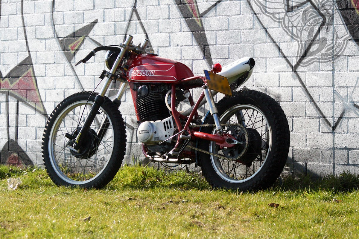 1978 suzuki sp370 four-stroke single | shed built bikes