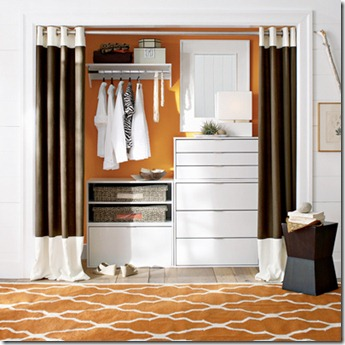 Sherri cassara designs curtains for closet doors for Door substitute ideas