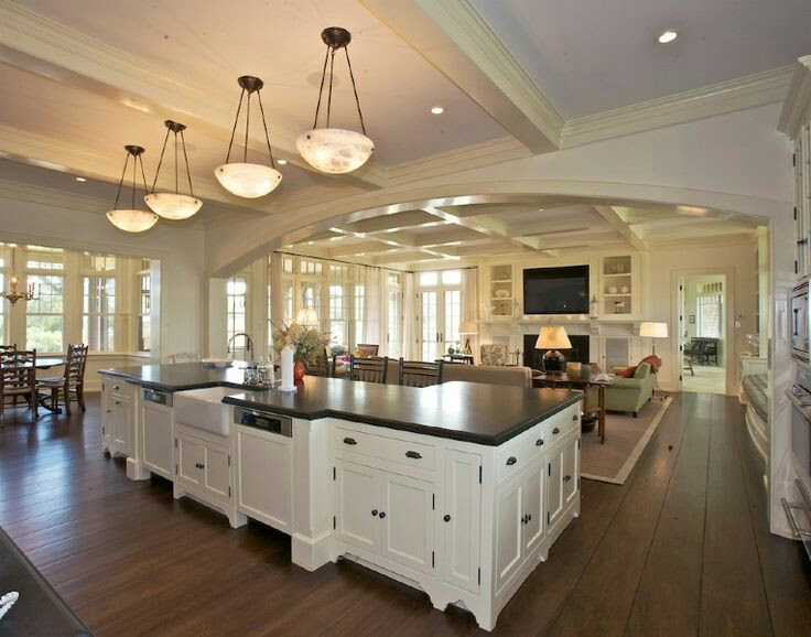 Lavish home staging interior decorating by carol dream kitchen ideas for Open floor plan kitchen living room small space