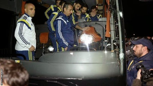 Shots fired at bus carrying Fenerbahce players, injuring driver