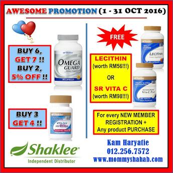 Shaklee Promo Oct 2016