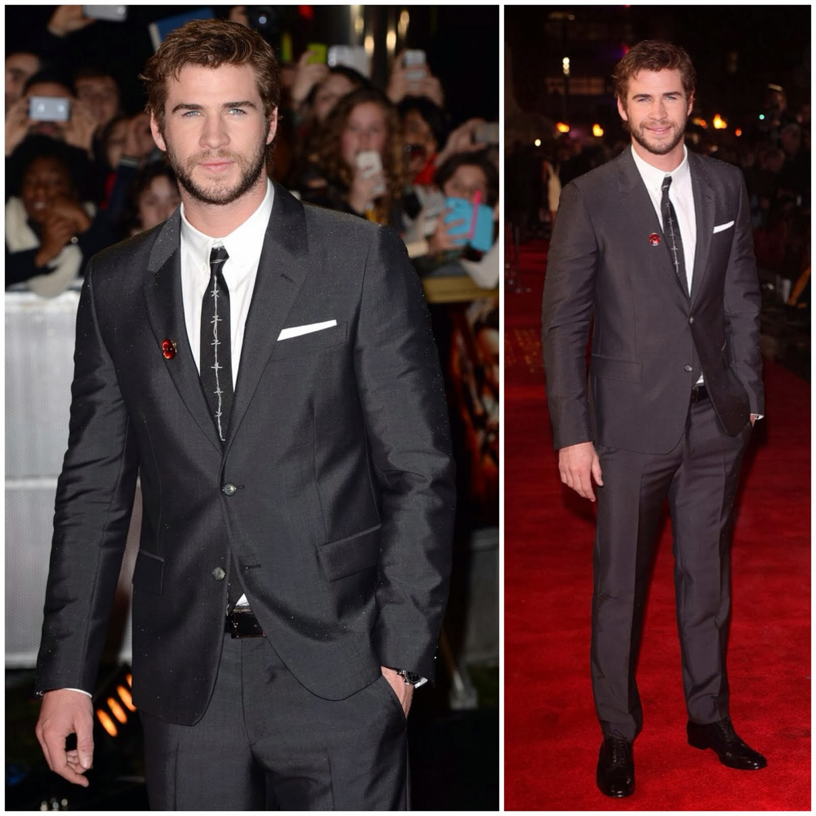 Liam Hemsworth in Alexander McQueen - 'The Hunger Games: Catching Fire' London Premiere, November 2013