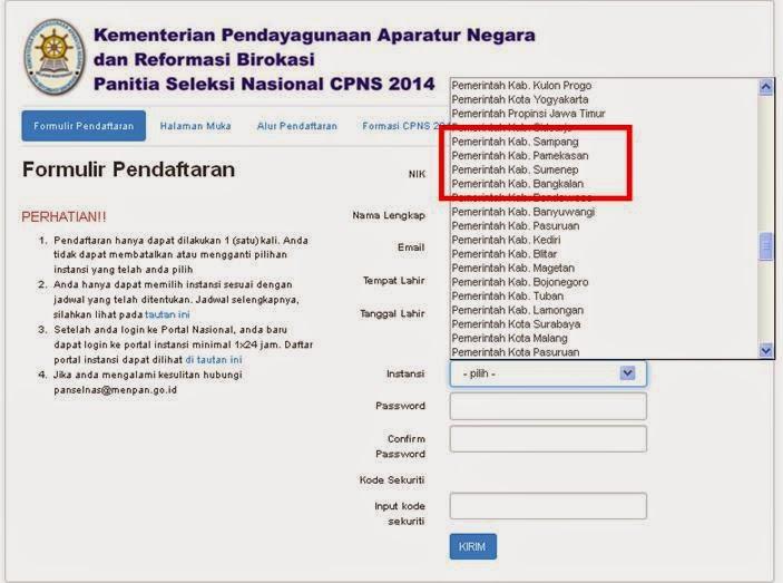 Warga Madura Sudah Bisa Mendaftar CPNS di regpanselnas.menpan.go.id