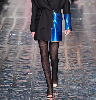 Acne thigh-high boots with open toes