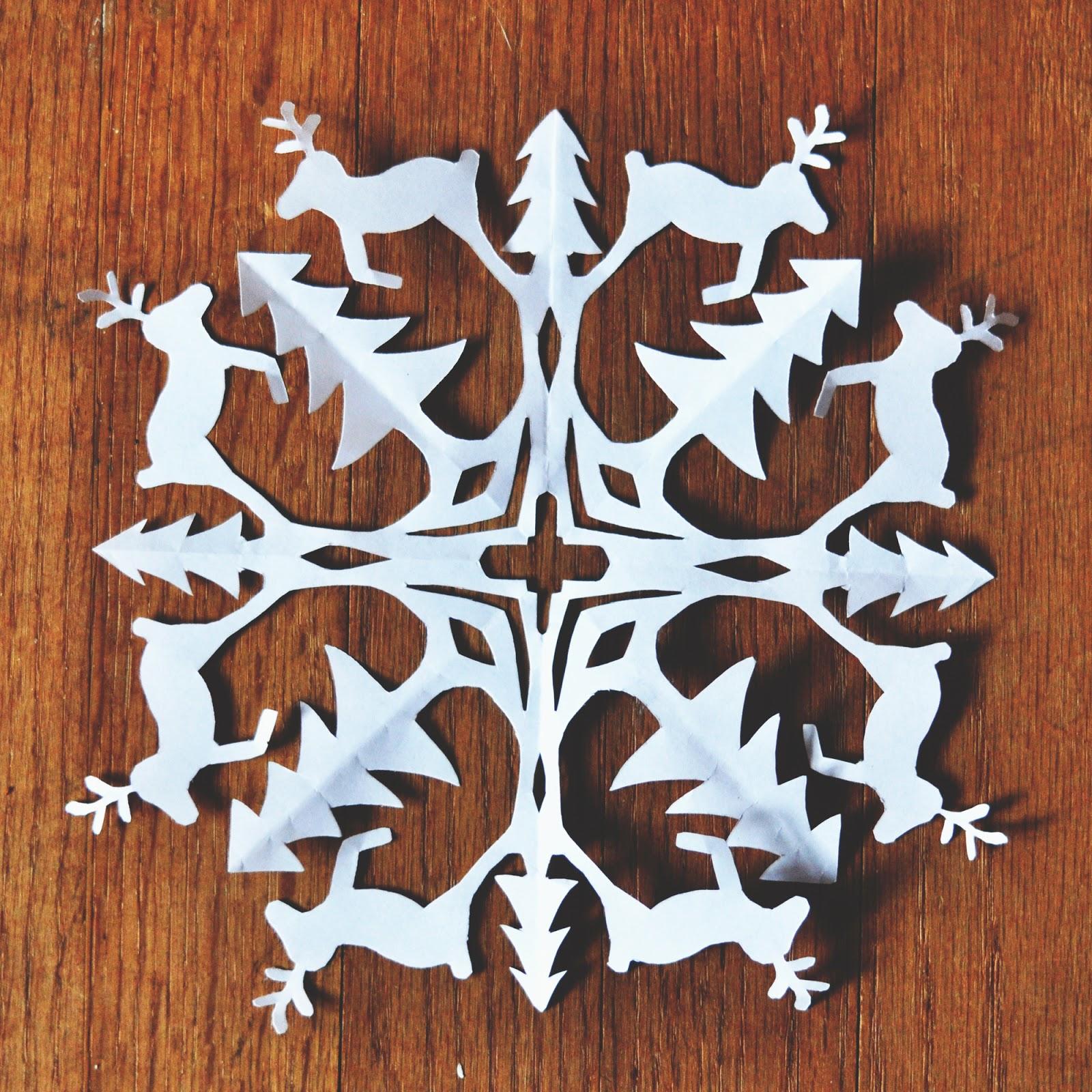 zauberbear  reindeer snowflake pattern