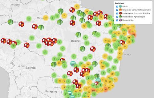 """""""Waze"""" do orgânico usa GPS para indicar feiras, hortas, restaurantes e muito mais"""